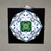 Wolf Decorative Ceramic Tile Coaster Sacred Geometry Kaleidoscope Keen Observation