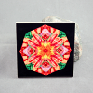Dragonfly Decorative Ceramic Tile Coaster Trivet Geometric Kaleidoscope Opulent Solace