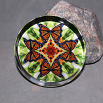 Monarch Butterfly Glass Paperweight Boho Chic Mandala New Age Sacred Geometry Kaleidoscope Free Spirit