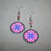 Lily Earrings Silver Mandala Sacred Geometry Kaleidoscope Innocent Flirtation