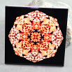 Succulent Decorative Ceramic Tile Sacred Geometry Mandala Kaleidoscope Succulent Starburst
