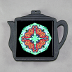 Butterfly Trivet Cast Iron Teapot Mandala Sacred Geometry Kaleidoscope Jeweled Jubilee