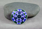Iris Magnet Glass geometric Kaleidoscope Mandala Circle of Purple