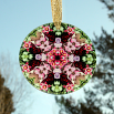 Rose Bleeding Heart Glass Suncatcher Mandala Kaleidoscope Geometric Smitten