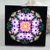 Daisy Decorative Ceramic Tile Sacred Geometry Mandala Kaleidoscope Triumphant Soul