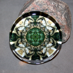 Wolf Glass Paperweight Boho Mandala Sacred Geometry New Age Kaleidoscope Fierce Determination