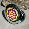 Pansy Compact Mirror Pocket Mirror Boho Chic Mandala New Age Sacred Geometry Hippie Kaleidoscope Blissful Beliefs
