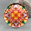 Dragonfly Lily Glass Paperweight Sacred Geometry Mandala Kaleidoscope Opulent Solace