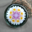Lotus Flower Glass Paperweight Boho Chic Mandala New Age Sacred Geometry Kaleidoscope Profound Soul