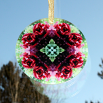 Rose Glass Suncatcher Geometric Mandala Kaleidoscope Frostbitten
