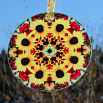 Sunflower Suncatcher Boho Chic Mandala Sacred Geometry New Age Kaleidoscope Bohemian Bliss