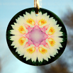 Lotus Flower Suncatcher Glass Boho Mandala Sacred Geometry New Age Kaleidoscope Profound Soul