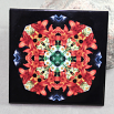 Lily Daisy Decorative Ceramic Tile Coaster Trivet Geometric Kaleidoscope Summer Sizzle