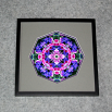 Wildflower Sacred Geometry Wall Decor Mandala Wall Art Pink Providence Framed