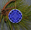 Ornament Christmas Ceramic Snowflake Mandala All Occasion Sacred Geometry Kaleidoscope Boho Chic New Age Bohemian Modern Unique Crystal Twilight
