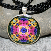 Daisy Pendant Sacred Geometry Mandala Kaleidoscope Necklace Daisy Delight