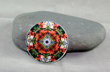 Lily Daisy Magnet Glass Geometric Kaleidoscope Mandala Summer Dreams