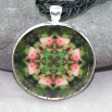 Pitcher Plant Flower Pendant Sacred Geometry Mandala Kaleidoscope Necklace Picture Perfect
