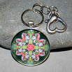 Butterfly Key Chain Sacred Geometry Mandala Nymph Nirvana