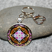 Butterfly Key Chain Sacred Geometry Mandala Hsien