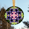 Petunia Carnation Glass Suncatcher Mandala Kaleidoscope Geometric Purple Passion