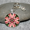 Gladiola Key Chain Sacred Geometry Mandala Pink Infatuation