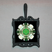 Wolf Trivet Cast Iron Ceramic Tile Mandala Sacred Geometry Kaleidoscope Fierce Determination