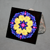 Daisy Ceramic Tile Boho Chic Mandala New Age Sacred Geometry Hippie Kaleidoscope You Are My Sunshine