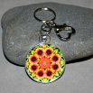 Blanket Flower Keychain Mandala Sacred Geometry Kaleidoscope A Ray of Hope