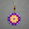Pansy Charm Necklace Boho Chic Mandala New Age Sacred Geometry Hippie Kaleidoscope Endearing Memories