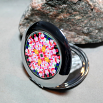 Peruvian Lily Compact Mirror Pocket Mirror Boho Chic Mandala New Age Sacred Geometry Hippie Kaleidoscope Tickled Pink