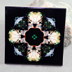 Wolf Decorative Ceramic Tile Coaster Geometric Kaleidoscope Night Stalker