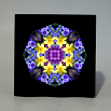 Daffodil Music Box With Ceramic Tile Top Boho Mandala New Age Sacred Geometry Sentimental Spring