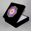 Lotus Flower Music Box With Ceramic Tile Top Boho Mandala New Age Sacred Geometry Amethyst Supernova