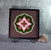 Orchid Sacred Geometry Wall Decor Mandala Wall Art Simple Serenity Framed