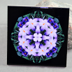 Crocus Decorative Ceramic Tile Sacred Geometry Mandala Kaleidoscope Prelude Of Spring