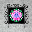 Lily Organizer Rack Jewelry Rack Key Rack Utensil Rack Boho Chic New Age Sacred Geometry Kaleidoscope Innocent Flirtation