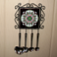 Songbird Utensil Rack Sacred Geometry Mandala Kaleidoscope Bleeding Heart