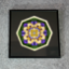 Daisy Sacred Geometry Wall Decor Mandala Wall Decor Sunny Splendor Framed