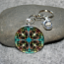 Sea Turtle Key Chain Sacred Geometry Mandala Gordan Green