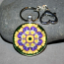 Pansy Keychain Bag Charm Boho Chic Mandala New Age Sacred Geometry Kaleidoscope Blissful Beliefs