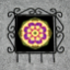 Pansy Organizer Rack Jewelry Rack Key Rack Utensil Rack Boho Chic New Age Sacred Geometry Kaleidoscope Blissful Beliefs
