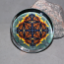 Monarch Butterfly Glass Paperweight Boho Chic Mandala New Age Sacred Geometry Kaleidoscope Masquerade
