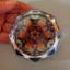 Autumn Leaf Octagon Glass Paperweight Geometric Mandala Kaleidoscope Unique Boss Gift Coworker Gift Teacher Gift Pebble Paradise