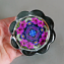 Petunia Flower Glass Paperweight Floral Mandala Kaleidoscope Geometric Unique Boss Gift Coworker Gift Teacher Gift Serendipity