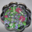 A Floral Glass Paperweight Real Flower s Hand Painted Preserved In Resin One Of A Kind