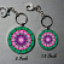 Key Chain Heart Chakra Mandala Purse Charm Bag Charm Unique Gift Tantalizing Temptation