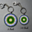 Key Chain Daisy Mandala Purse Charm Bag Charm Unique Gift My Love Blooms Eternal