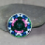 Butterfly Glass Magnet Sacred Geometry Mandala Kaleidoscope Flawless Fascination