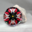 Hummingbird Glass Paperweight Kaleidoscope Mandala Sacred Geometry Tiny Dancer